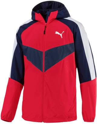 Puma Men's Colorblock Hooded Windbreaker Jacket