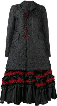 Comme des Garcons ruffle hem quilted coat