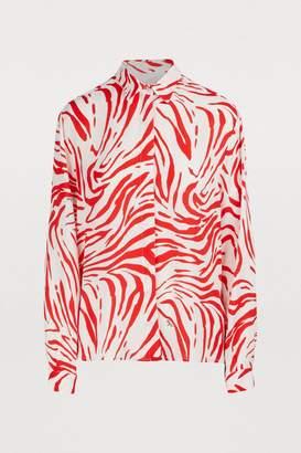 MSGM Zebra printed shirt