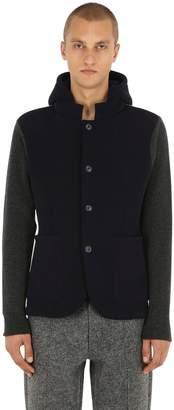 Premium Techno & Wool Knit Blazer