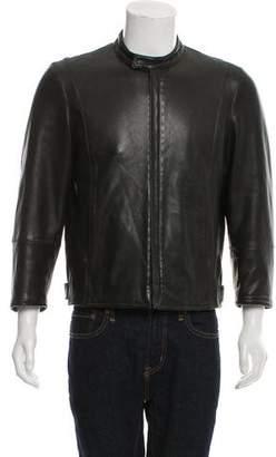 Giorgio Armani Zip-Up Leather Jacket