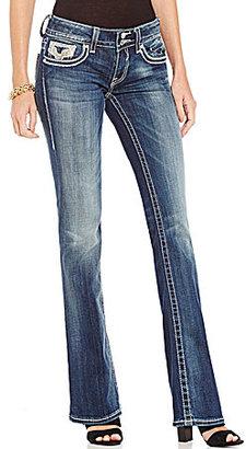 Vigoss Jeans Vigoss Chelsea Silver Lurex Bootcut Jeans $84 thestylecure.com