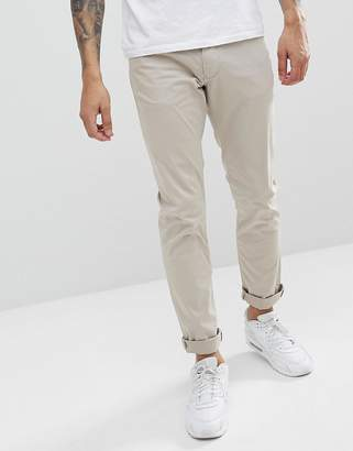Emporio Armani J06 Slim Fit 5 Pocket Trousers In Beige