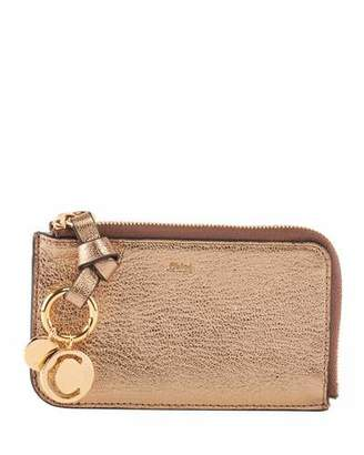 Chloé Alphabet Metallic Card Case