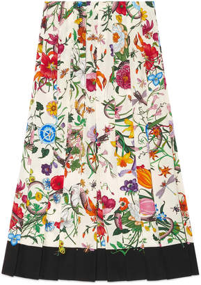 Flora Snake silk skirt $1,980 thestylecure.com