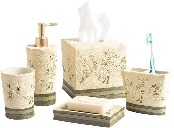 Avanti Linens Greenwood Collection Tissue Box Cover