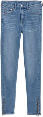 H&M Skinny Regular Zip Jeans