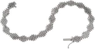 "Imperial Gold 7-1/4"" Diamond Shape Lame' Bracelet, 14K Gold"