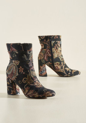 Poetic Licence What Comes to Stride? Boot in Tapestry $158.99 thestylecure.com