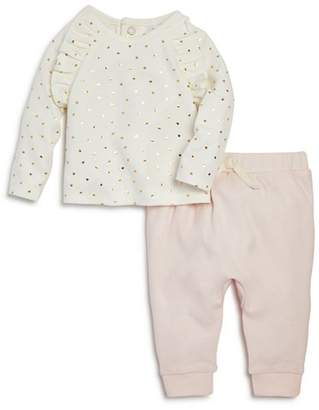 Bloomingdale's Bloomie's Girls' Heart-Print Tee & Jogger Pants Set, Baby - 100% Exclusive