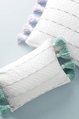 Anthropologie Tasseled Eyelet Pillow