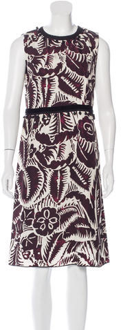 Marc JacobsMarc Jacobs Abstract Print Embellished Dress