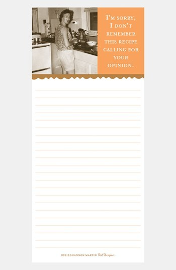 Shannon Martin Girl Designer 'I Don't Remember this Recipe' Magnetic List Pad
