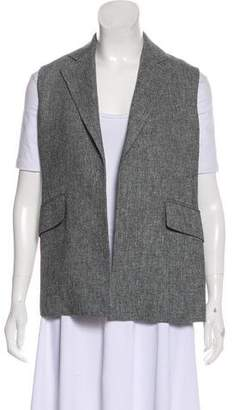 Theory Linen Open Front Vest