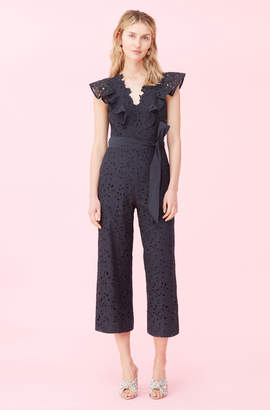 Rebecca Taylor Clover Embroidered Jumpsuit
