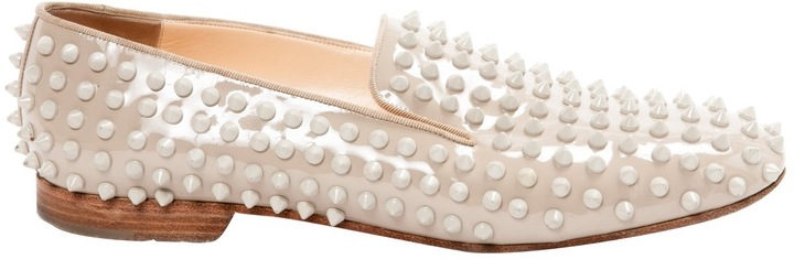 Christian Louboutin  Spike leather flats