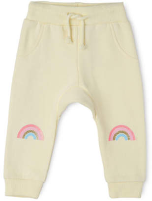 Sprout NEW Girls Essential Trackpant - Rainbow Knee/ Lemon