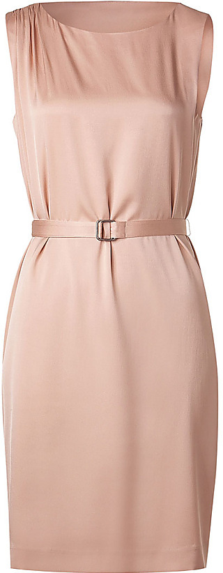 THEORY Nude Blush Belted Dress