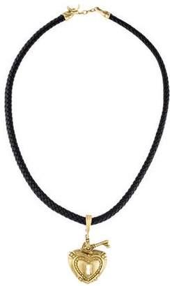 14K Heart & Key Pendant Necklace
