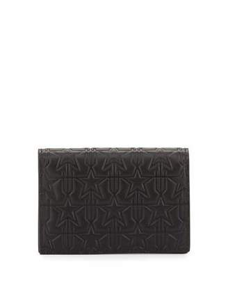 Givenchy Embossed Leather Card Case, Black $495 thestylecure.com