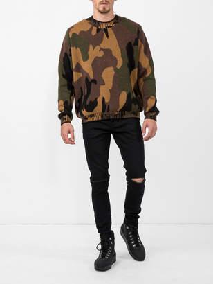 The Elder Statesman Camouflage crew neck sweater