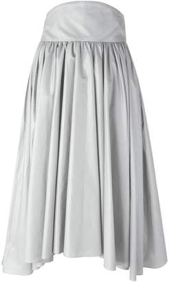 Olympia Le-Tan pleated A-line skirt