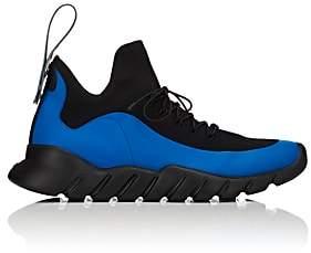 Fendi Men's Rubber-Strap Tech-Knit Sneakers-Blue