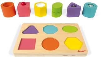 Janod Sensory Wooden Cubes - Set of 6