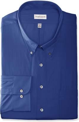 Van Heusen Men's Regular Fit Silky Poplin Button Down Collar Dress Shirt
