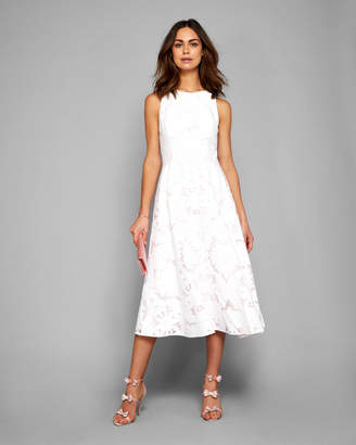 Ted baker white back zip dresses shopstyle uk at ted baker ted baker roshi floral overlay midi dress mightylinksfo