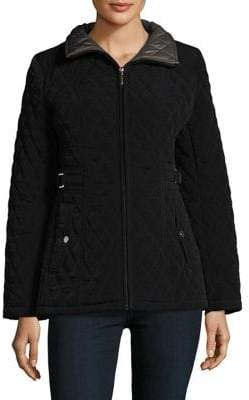 Gallery Petite Quilted Zip-Front Jacket