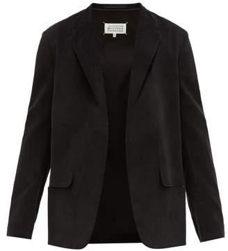 Maison Margiela Slashed Single Breasted Cotton Corduroy Blazer - Mens - Black