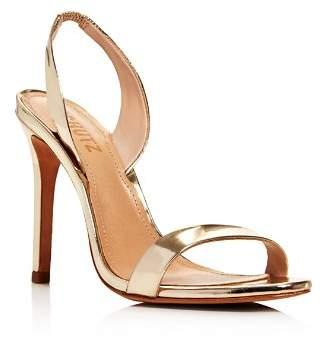 Schutz Women's Luriane Metallic Leather Slingback Sandals
