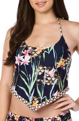 Trina Turk Fiji Floral Tankini Top