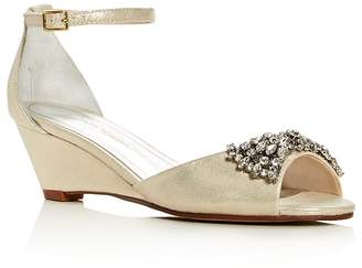 Caparros Hugh Metallic Embellished Wedge Sandals