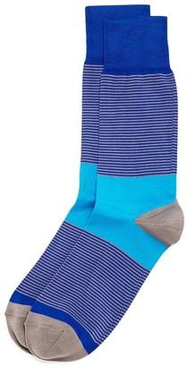 Bruno Magli Thin Stripe Socks $30 thestylecure.com