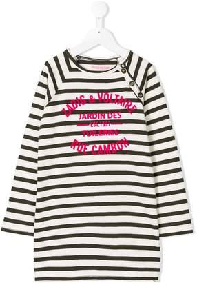 Zadig & Voltaire Kids TEEN Billie striped dress