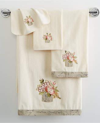 "Avanti Antique Bouquet 13"" x 13"" Washcloth Bedding"