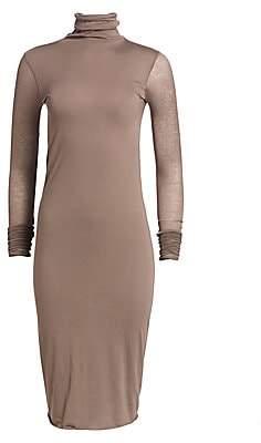 Rick Owens Lilies Women's Sheer-Sleeve Turtleneck Sweaterdress