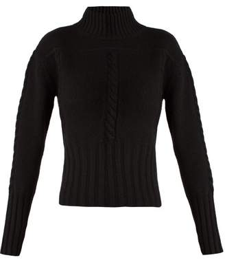 Khaite - Maude Funnel Neck Cashmere Knit Sweater - Womens - Black