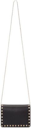 Valentino Black Small Rockstud Shoulder Bag $1,195 thestylecure.com