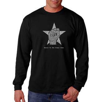 LOS ANGELES POP ART Los Angeles Pop Art Graphic Steve Jobs Crazy Ones Word Art Long Sleeve T-Shirt