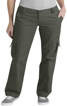 Dickies Womens Relaxed-Fit Straight-Leg Cargo Pants