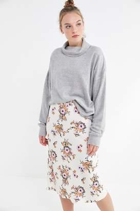 99e858c07667 Urban Outfitters Slinky Floral Satin Slip Skirt