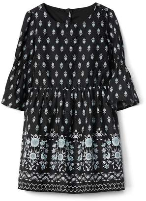 Gap Smocked Sleeve Dress