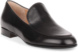 Gianvito Rossi Marcel black leather loafer