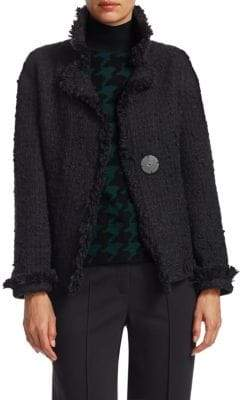 Akris Punto Fringed Tweed Jacket