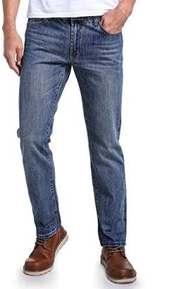 Eaglide Mens Straight Leg 5 pocket Bootcut Loose Fit Elastic Stretch Jeans