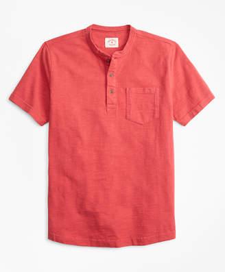 Brooks Brothers Short-Sleeve Slub Cotton Jersey Henley