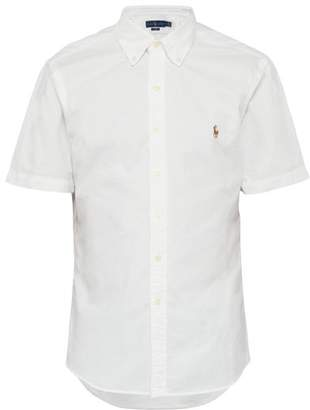 Polo Ralph Lauren Slim Fit Logo Embroidered Button Down Cotton Shirt - Mens - White